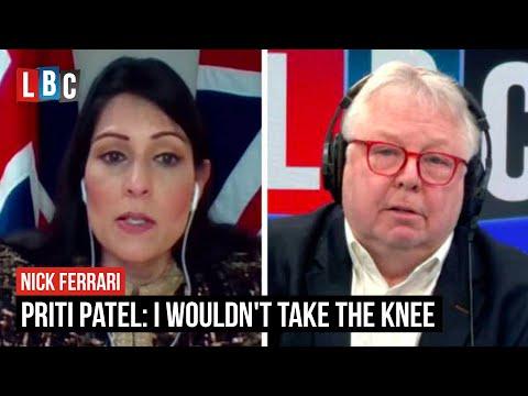Priti Patel tells LBC 'I wouldn't take the knee' in support of Black Lives Matters | LBC