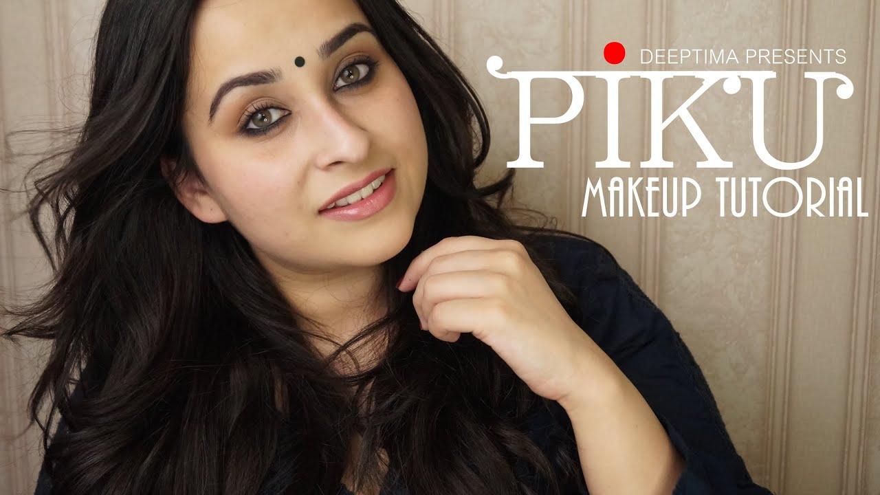 Piku Inspired Everyday Indian Makeup Kohl Rimmed Eyes