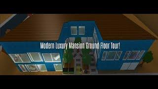 Lusso Mansion Ground Floor Tour! (Roblox Bloxburg)