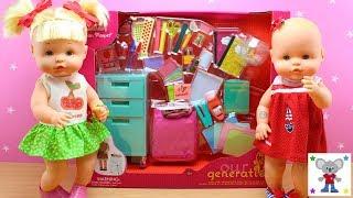MATERIAL ESCOLAR en Miniatura para las Bebés Nenuco HERMANITAS TRAVIESAS en la Escuela