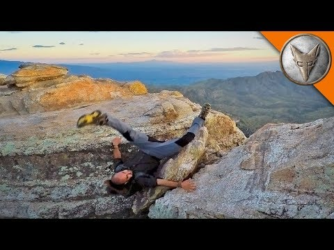 HORRIFIC CLIFF FALL - Does NOT Make Jump!