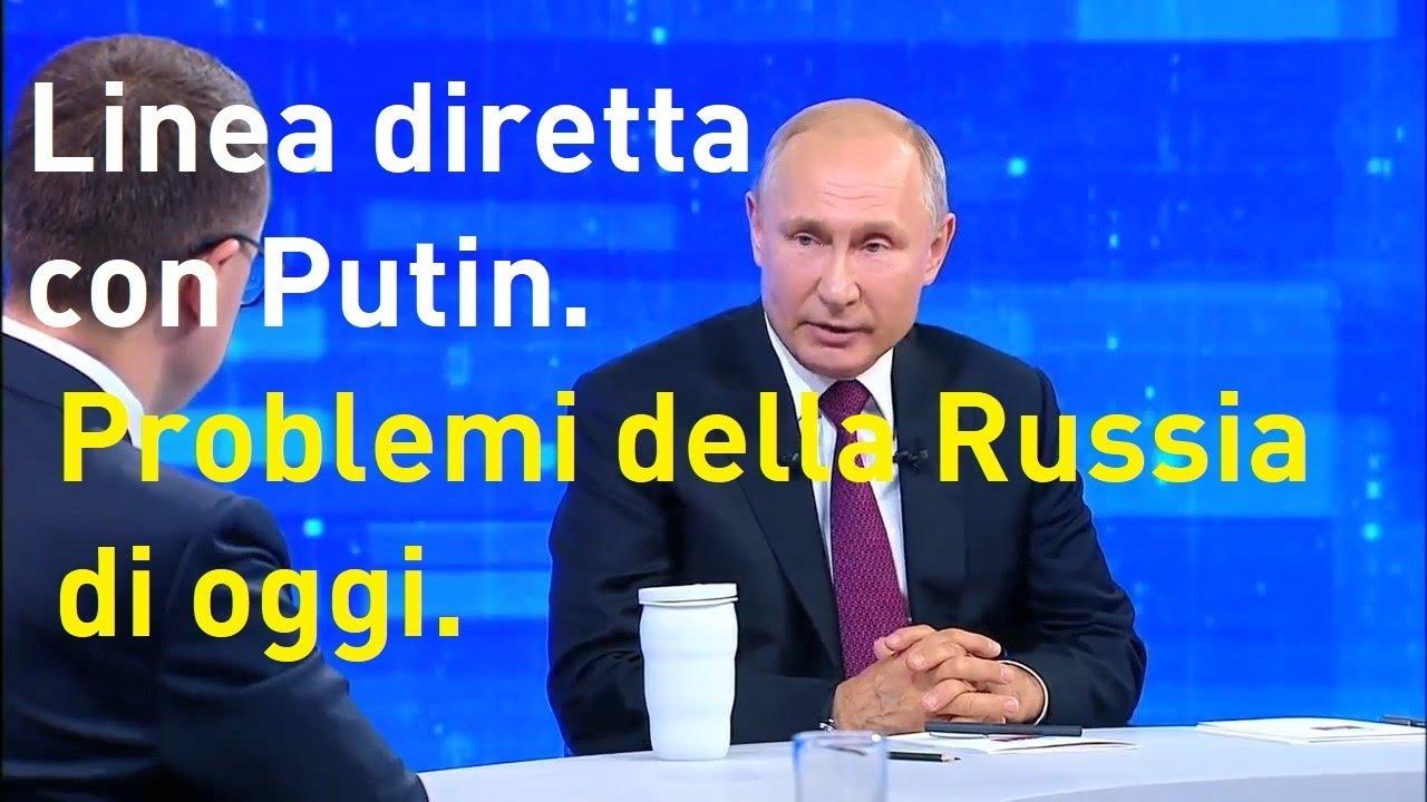 Linea diretta con Putin.  Problemi della Russia di oggi