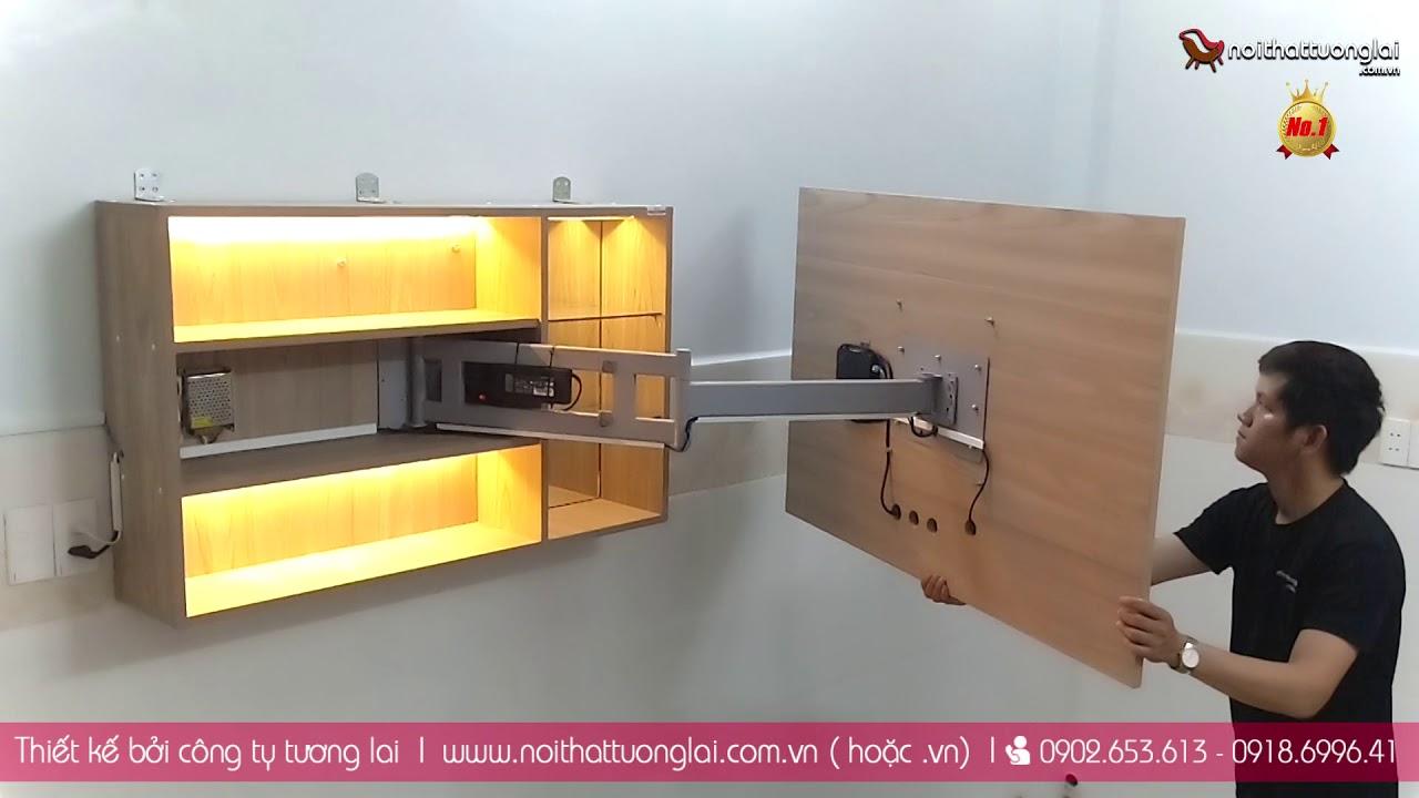 Tủ tivi thông minh xoay 360 – Kệ tivi phòng khách – khung treo tivi
