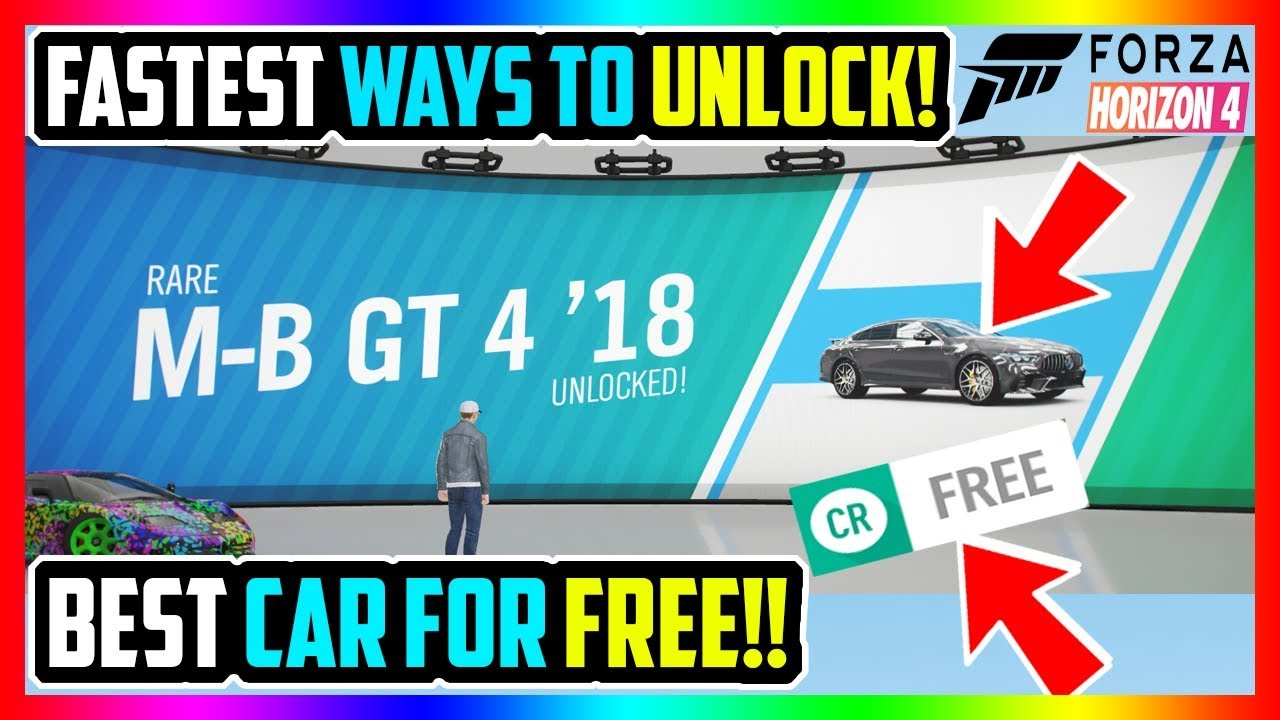 UNLOCK *NEW* FORZA HORIZON 4 MERCEDES AMG GT INSTANTLY! FASTEST FREE METHOD! *NEW*