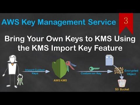 03 AWS Custom KMS | Import Custom Key or your Secrets into KMS | Encrypt  data with custom key
