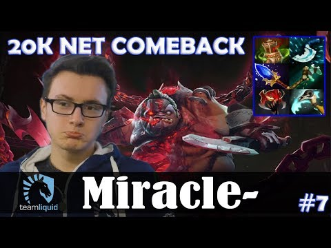 Miracle - Pudge Roaming | 20K NET COMEBACK | Dota 2 Pro MMR Gameplay #7