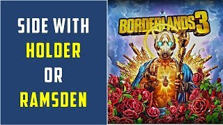 On the blood Path: Side with Holder or Open Door for Ramsden | Side Mission | Borderlands 3