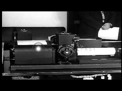 The working of an early photoradiogram or facsimile machine. HD Stock Footage