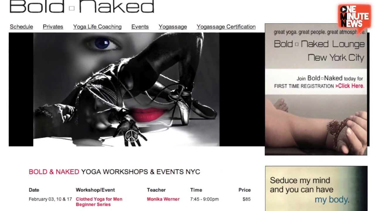 nudist rec center relaxation) Nude Yoga Comes to NYC with 'Bold & Naked'