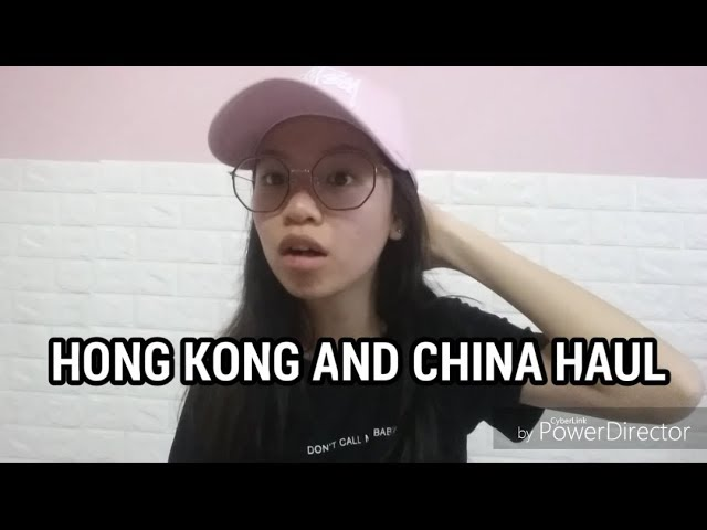 HONG KONG AND CHINA HAUL