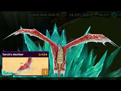 Torch's mother max level 124 titan mode||Dragons rise of Berk