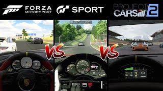 Forza 7 vs GT Sport vs Project Cars 2 FULL Graphics Comparison
