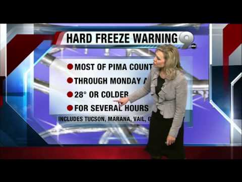 Erin's KGUN 9 Forecast at 10PM Friday, January 11, 2013