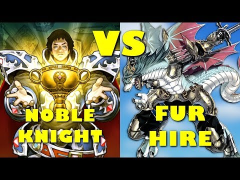 Real Life Yugioh - NOBLE KNIGHT vs FUR HIRE | June 2018 Non-Meta Scrub League