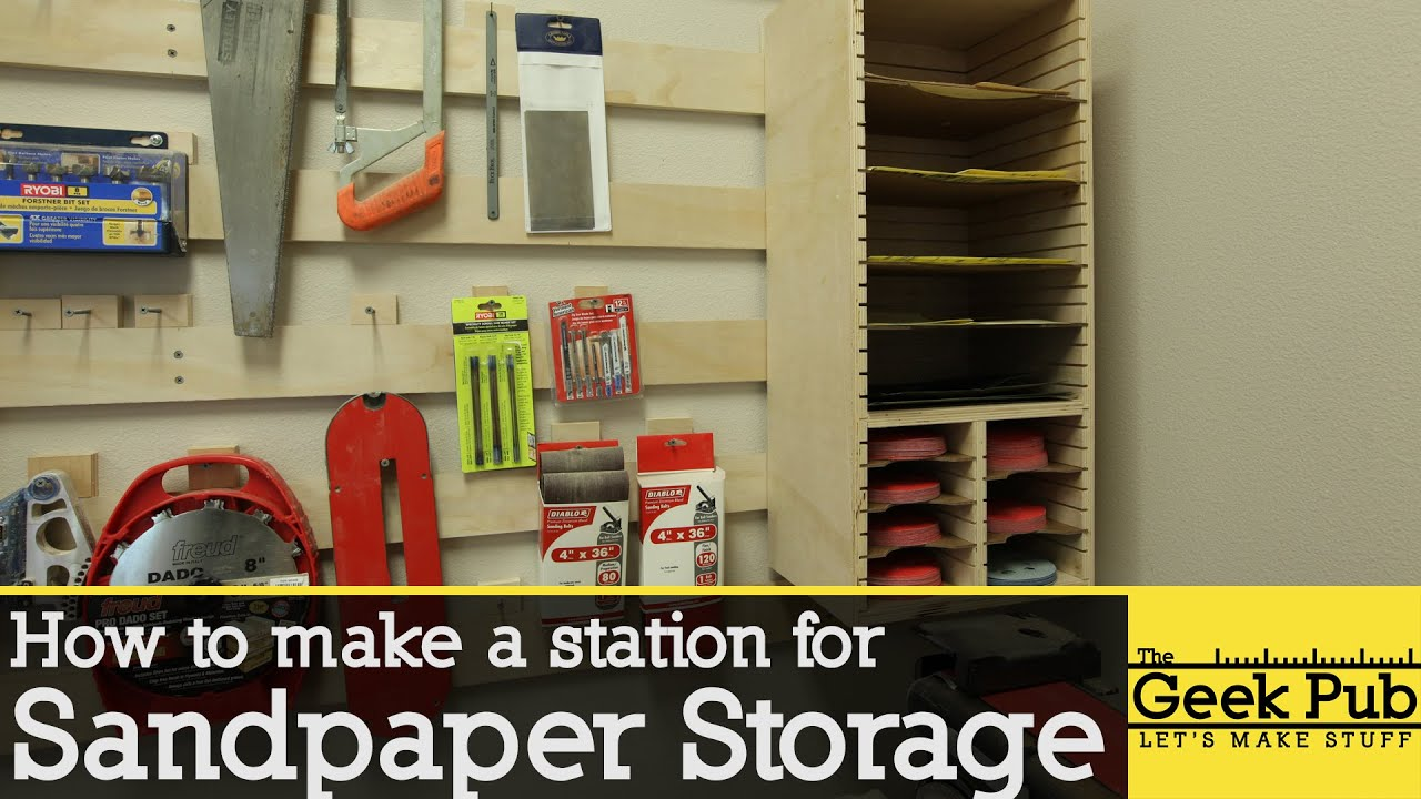 Genial How To Make A Sandpaper Storage Station
