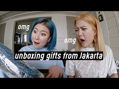 Unboxing Gifts from Jakarta Meet & Greet (Part 2) THANK YOU!!💖| DTV #96