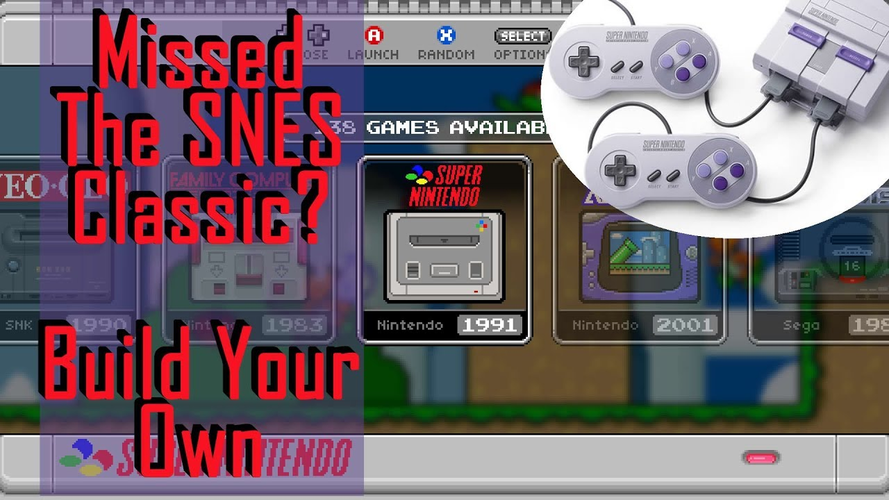 Build Your Own SNES Classic Edition 700+ Super Nintendo Games