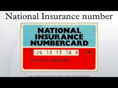 Resultado de imagem para National Insurance Number