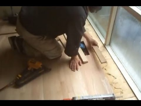 Installing Red Oak Unfinished Hardwood Flooring Close To