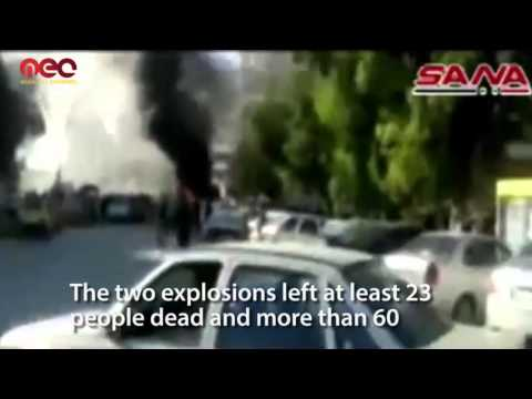 Two blasts leave at least 23 people killed and 64 wounded in Latakia