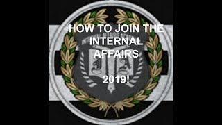 How to join the Federations Internal Affairs 2019! Roblox - IRF