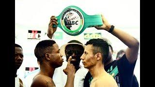 Duke Micah vs Jonathan Aguilar Highlights WBC Gallo, Detenida en el round 9 por lesión del Mexicano