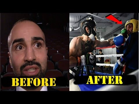 PAULIE MALIGNAGGI BEFOR AND AFTER SPARRING CONOR MCGREGOR!