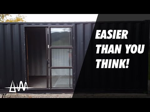 Installing a Sliding Door | Shipping Container Bike Shop & Cafe Build Episode 2
