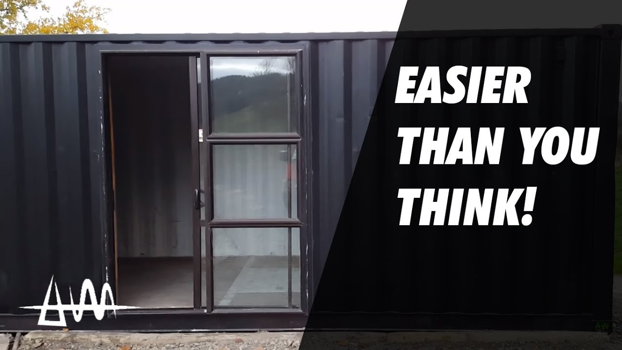 How difficult is it to put a door in a Shipping Container?