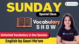 Sunday Special Class   Vocabulary Show For All Exams   English by Gauri Bhatt