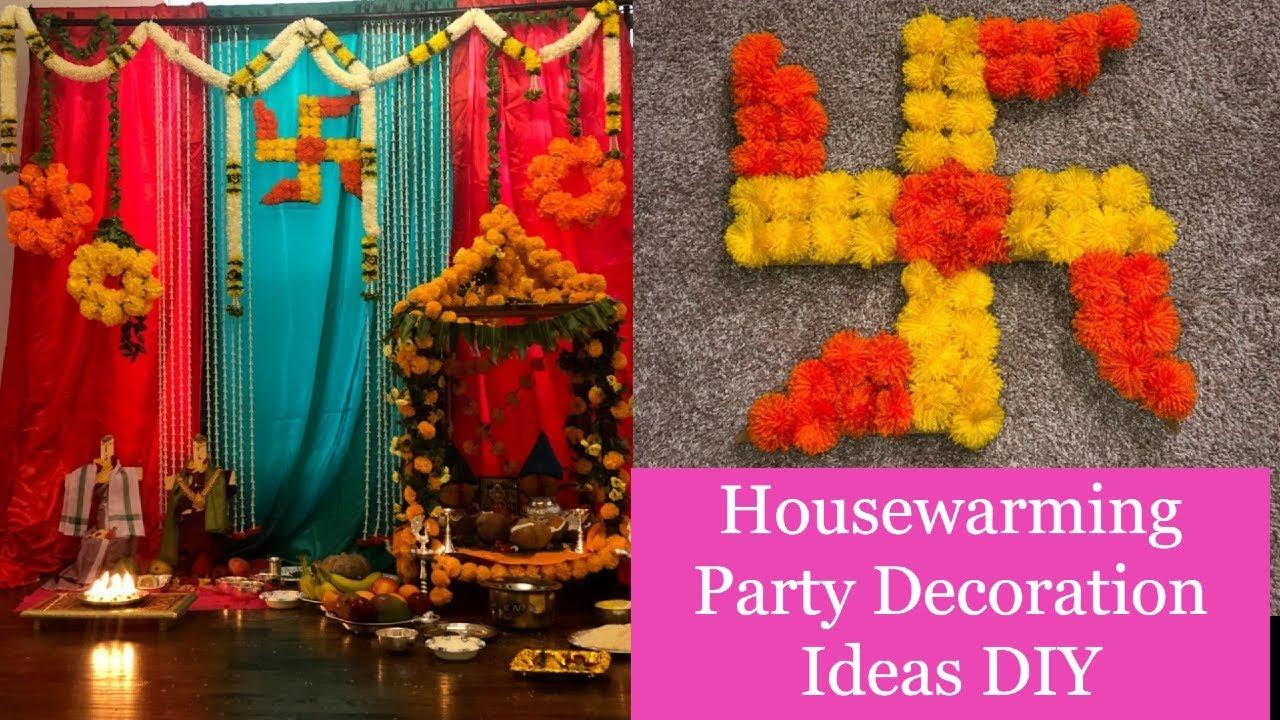 Housewarming party decoration ideas DIY  Festival decoration DIY 10  Varalakshmi Pooja Decoration