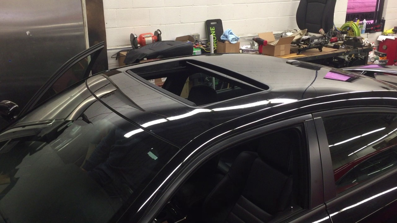 2017 Dodge Charger >> Power sun roof install in Dodge Charger - YouTube