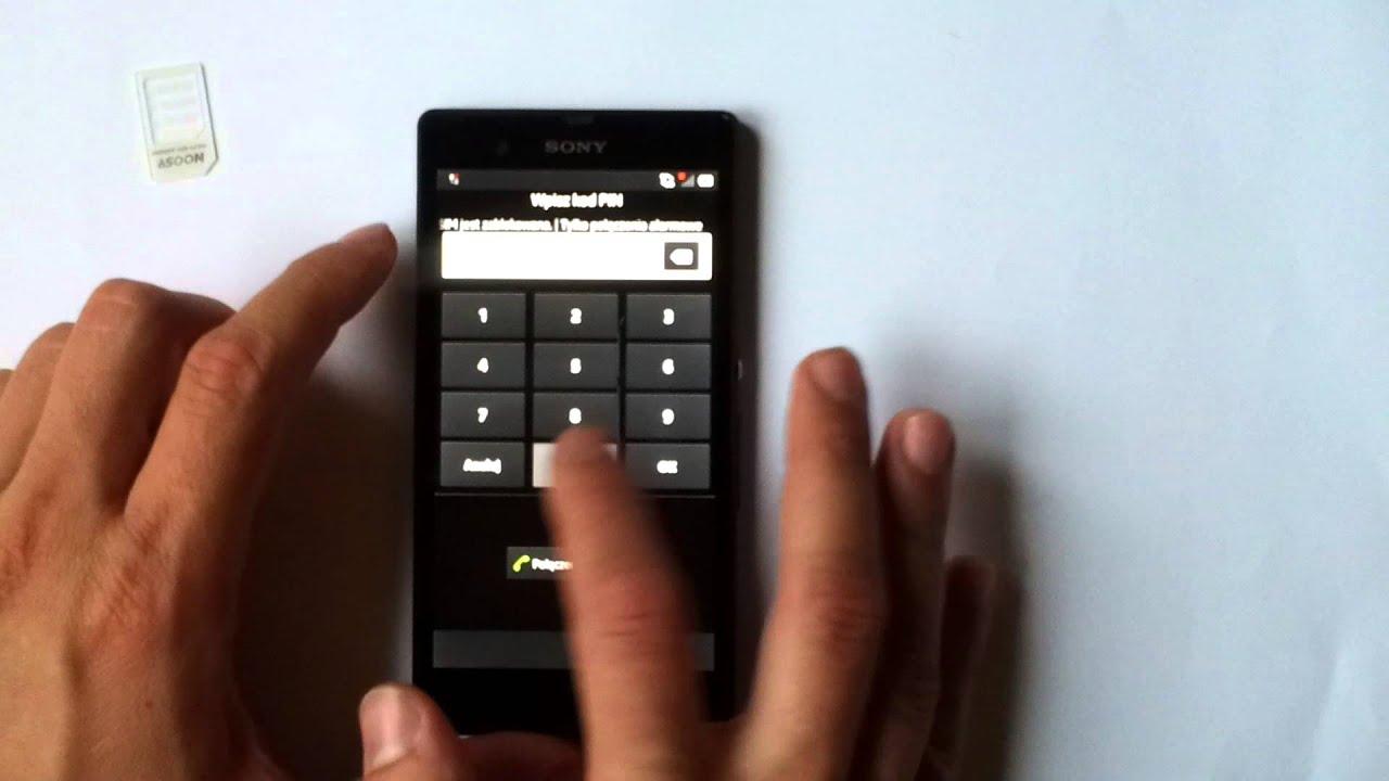 Simlock Sony Xperia Z Xperia Z Unlock Jak wpisac kod How to type input the Unlock Code