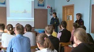 Сотрудники МЧС в преддверии весенних школьных каникул проводят профилактические занятия