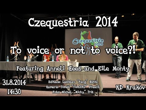 To voice or not to voice?!<br />(Voice actors panel)