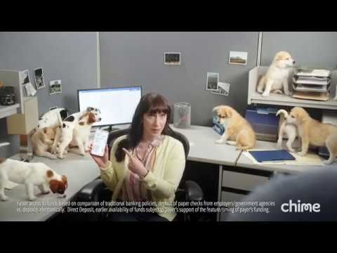 A Litter of Puppies Is a Metaphor for Getting Paid Early in Ad for
