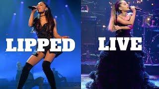 Ariana Grande - Lip Synced vs Live Vocals