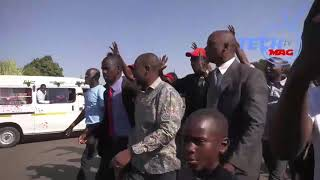 Watch Nelson Chamisa driving a kombi in the streets of Glen view