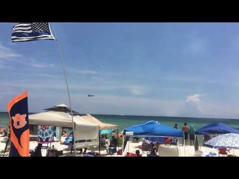 Blue angels meet at flagpole Pensacola Beach 7/8/17
