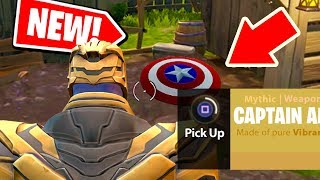 NEW! How THANOS can use CAPTAIN AMERICA'S SHIELD from AVENGERS: ENDGAME in Fortnite