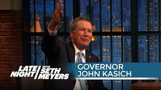 Governor John Kasich on Trying to Be Reasonable at the GOP Debate - Late Night with Seth Meyers