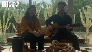 """Mandy Moore and Taylor Goldsmith (Dawes) singing """"Somewhere Along The Way"""" - Instagram Live"""