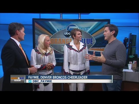 Denver Broncos Cheerleaders Sam & Faymie talk about the Cheer for the Troops program