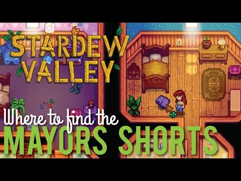 Where to find the Mayor's Shorts in Stardew Valley