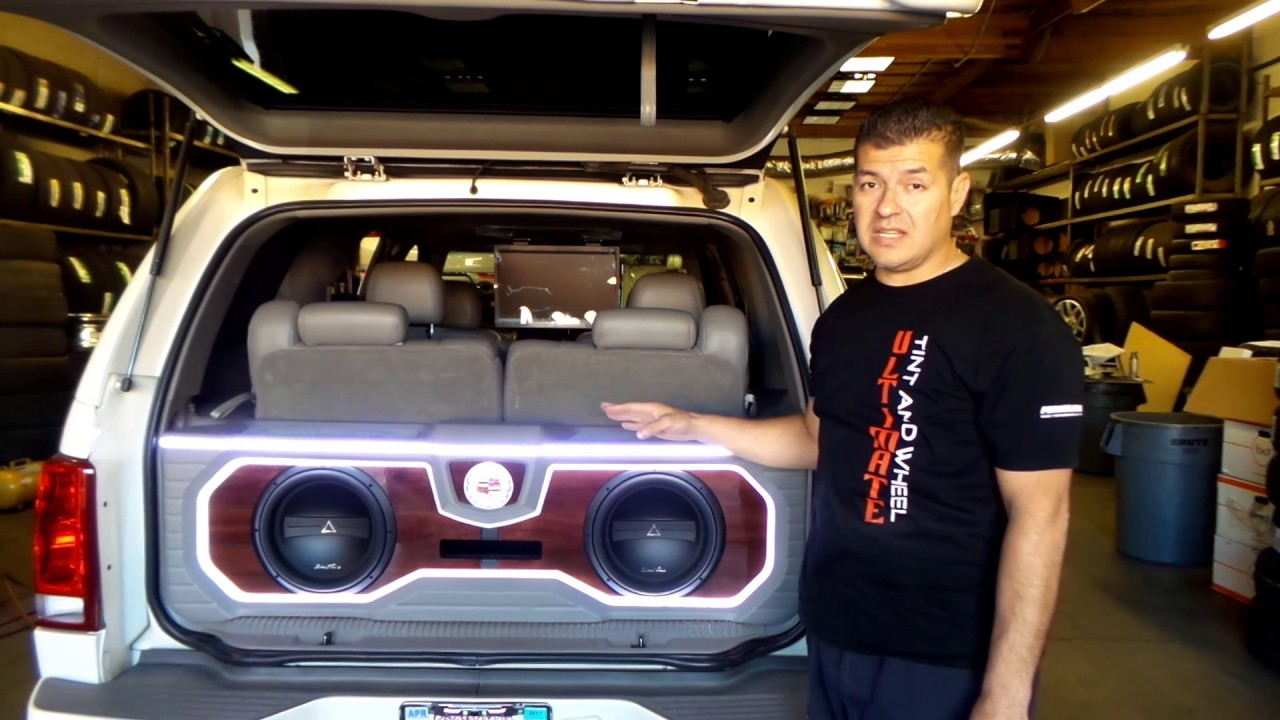 Custom Installation Of Phoenix Gold Sound System Ultimate Tint And Wheel Victorville