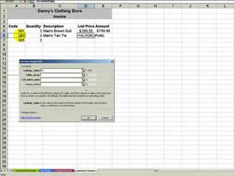use excel's vlookup function to build an invoice - youtube, Simple invoice