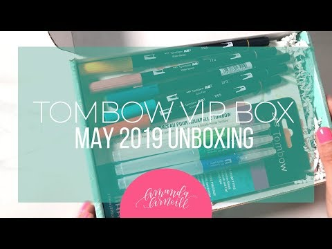Tombow Waterbrush Unboxing And Honest Review - Amanda Arneill | Hand Lettering