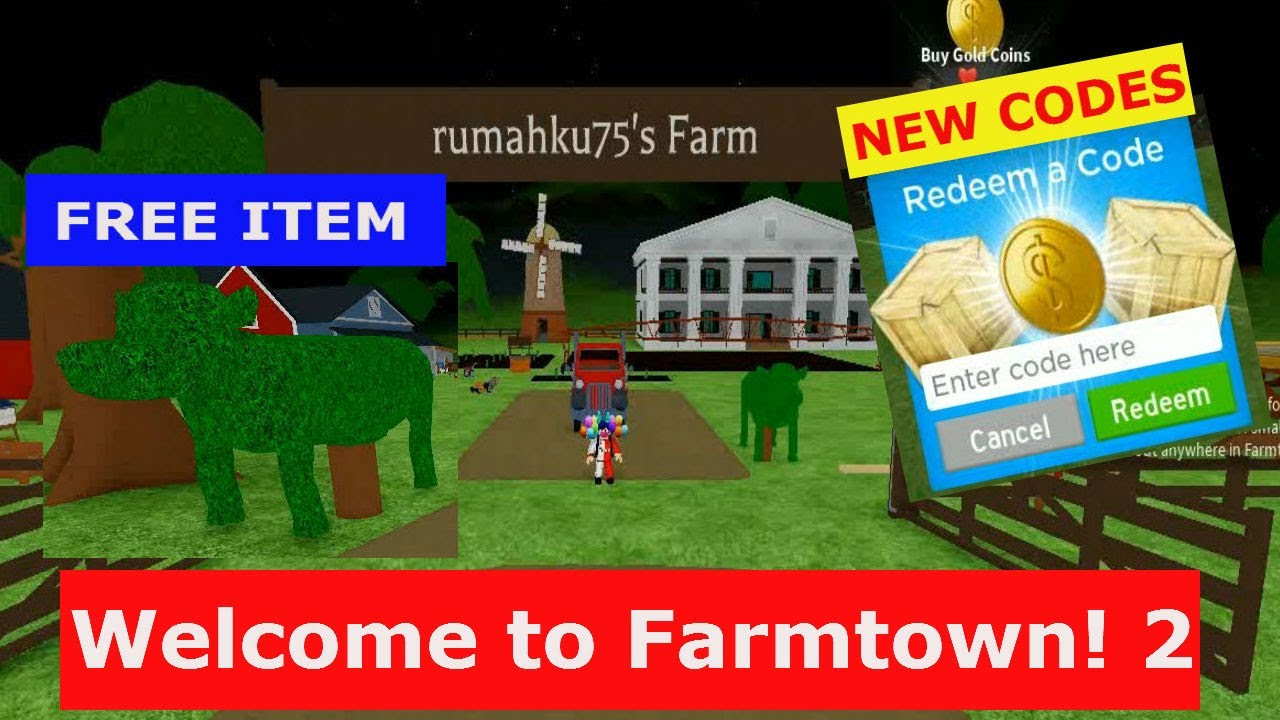 New Codes June 2020 Welcome To Farmtown 2 Roblox Youtube