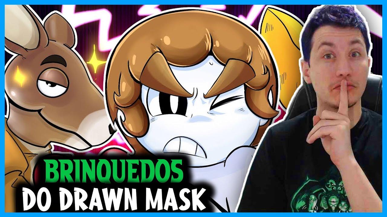 REACT OS BRINQUEDOS ZUADOS DA MINHA INFANCIA (Drawn Mask)