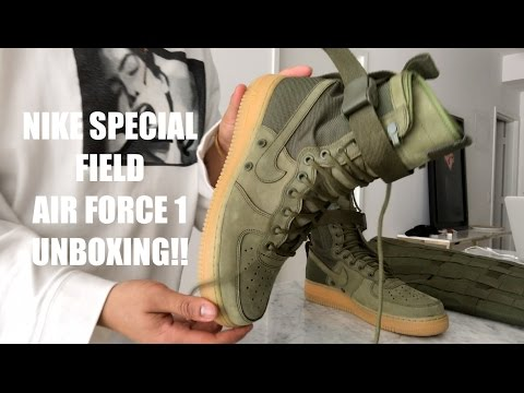 aee90772f54797 discount nike special field air force 1 sneakers in olive green tan sole  unboxing youtube 698c5